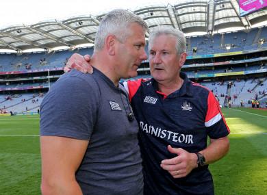 Cork's Kieran Kingston and Diarmuid O'Sullivan.