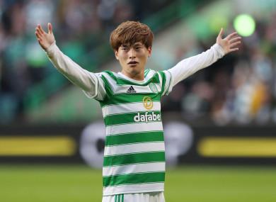 Celtic's new fan favourite Kyogo Furuhashi.