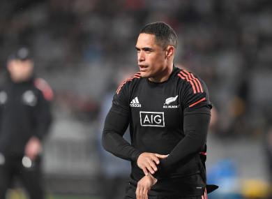 New Zealand scrum-half Aaron Smith.