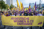 Housing activists marching in Berlin earlier this month.