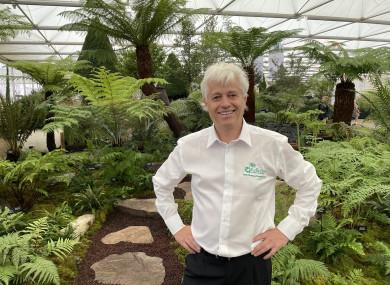 Billy Alexander inside his gold winning fern garden.