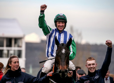 Davy Russell onboard Chosen Mate during last year's Cheltenham Festival.