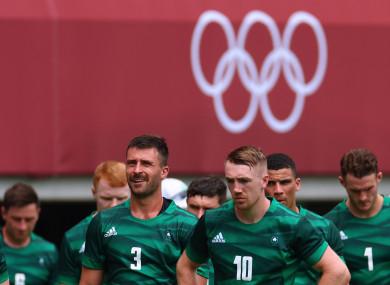 File photo of the Irish Sevens squad at the Tokyo Olympics.