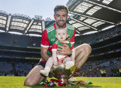 Kevin McLoughlin with his daughter Saorla after the Connacht final.