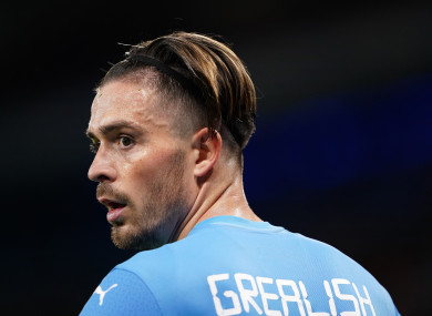 Manchester City's Jack Grealish during the UEFA Champions League, Group A match.