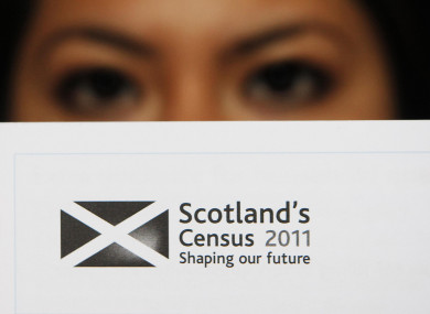 A model is pictured with the Scotland Census 2011.