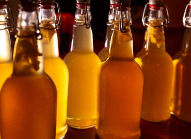 File image of bottles of kombucha.