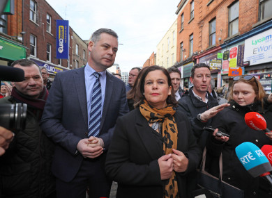 Mary Lou McDonald and Pearse Doherty on the campaign trail during the 2020 General Election.
