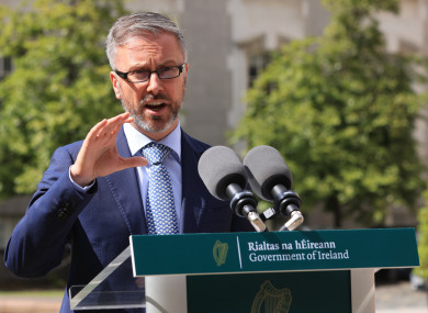 Minister for Children, Equality, Disability, Integration and Youth, Roderic O'Gorman (file photo)
