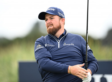 Shane Lowry at the Dunhill Links Championship.