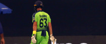 Ireland's Andrew Balbirnie dejected after being bowled out.