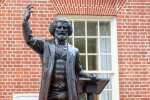 A statue of the abolitionist leader Frederick Douglass in Maryland, USA